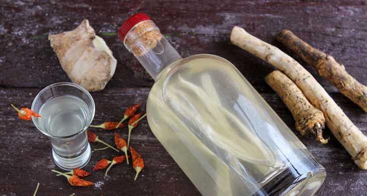 Быстрый рецепт хреновухи с перцем