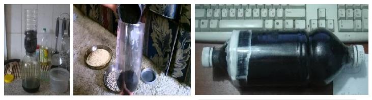 угольна колонна из пластиковой бутылки
