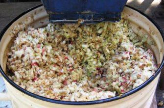 Яблочный жмых для приготовления браги