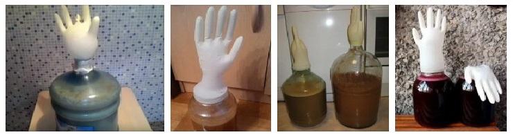 Гидрозатвор из перчатки