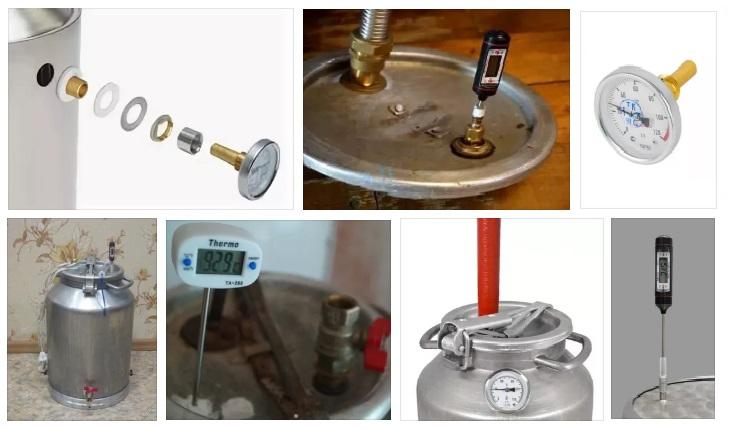 Установка термометров в самогонном аппарате